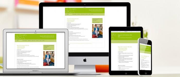 Responsive Website Psychotherapeutin Leoben